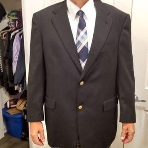 🍀 Very Nice! Black Hart Schaffner Suit Jacket 44R